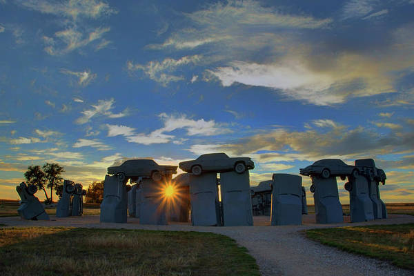 Nebraska Photograph - Carhenge - Nebraska - Sunset by Nikolyn McDonald