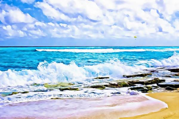 Photograph - Caribbean Beach Digital Paint by Tatiana Travelways