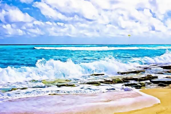 Photograph - Caribbean Beach Digital Paint by Tatiana Travelways