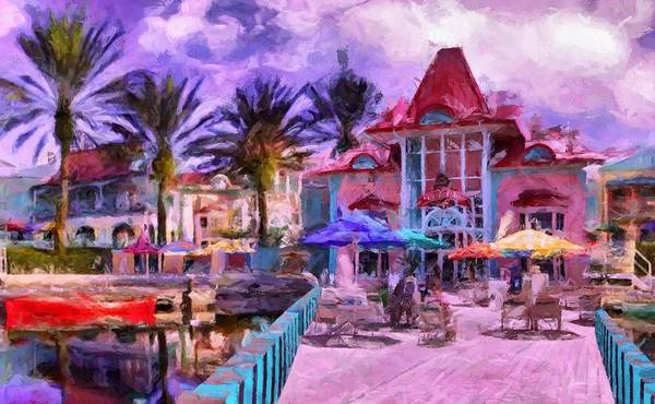Disney World Digital Art - Caribbean Beach Resort by Caito Junqueira