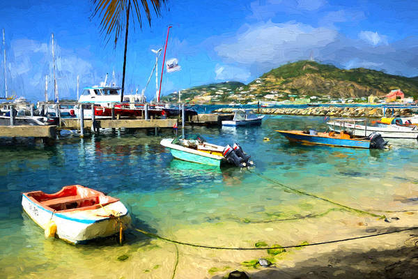 Photograph - Caribbean Harbor Impressions by Greg Norrell