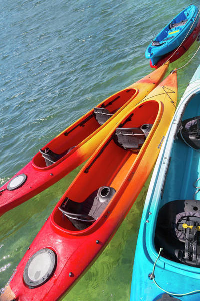 Wall Art - Photograph - Caribbean Kayaks by Betsy Knapp