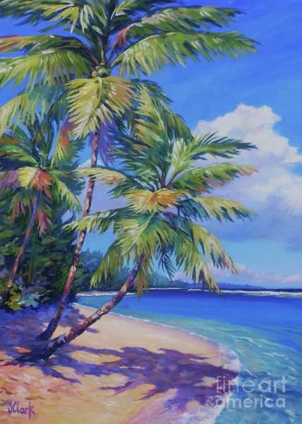 Wall Art - Painting - Caribbean Paradise 5x7 by John Clark