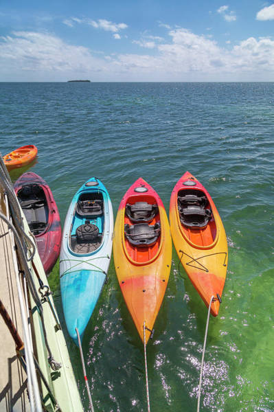 Wall Art - Photograph - Caribbean Sailing Kayaks by Betsy Knapp