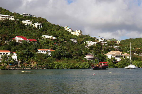 Photograph - Caribbean Saint Martin Hillside And Tugboat by Toby McGuire