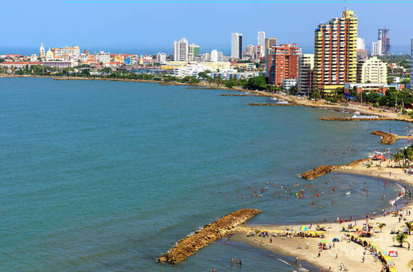 Photograph - Caribbean Sea Cartagena by John Rizzuto
