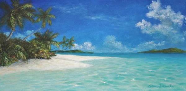 Us Virgin Islands Painting - Caribbean Seclusion by Alan Zawacki