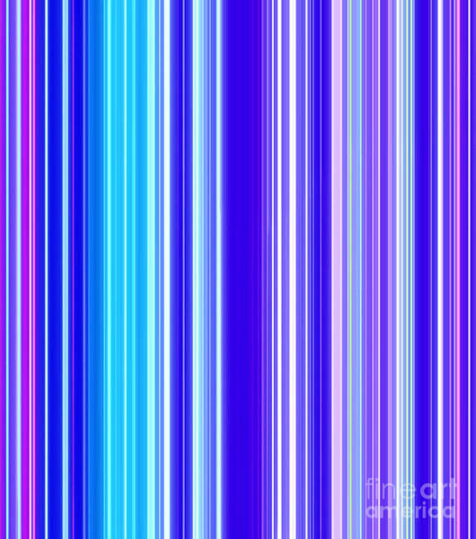 Vertical Line Digital Art - Caribbean Spectrum by Krissy Katsimbras