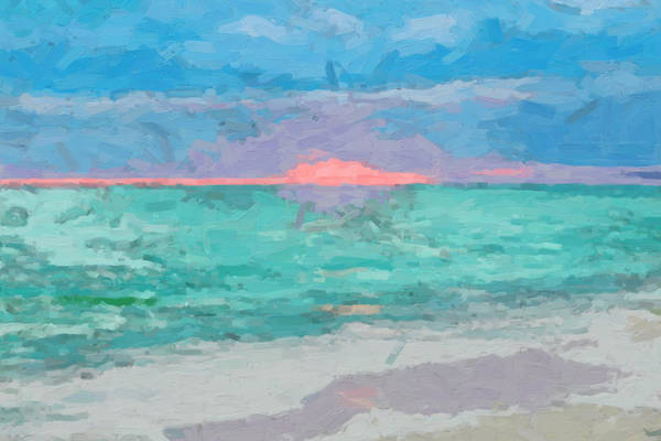Digital Art - Caribbean Sunrise by David Hansen