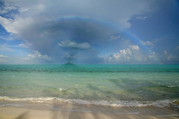 Stormy Digital Art - Caribbean Waterspout  by Betsy Knapp
