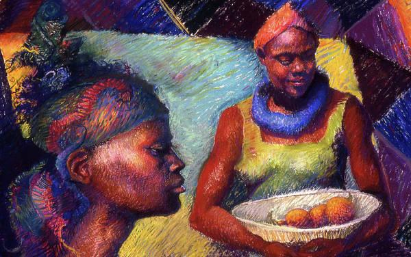 Painting - Caribbean Women With Oranges by Ellen Dreibelbis