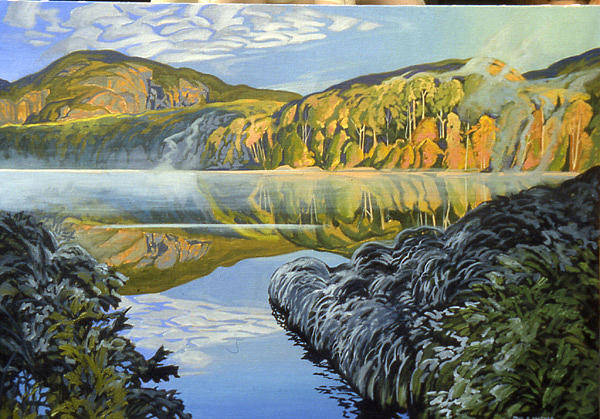 Wall Art - Painting - Cariboo Lake by Paul Gauthier