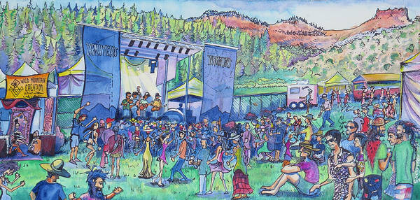 Painting - Caribou Mountain Collective At Yarmonygrass by David Sockrider