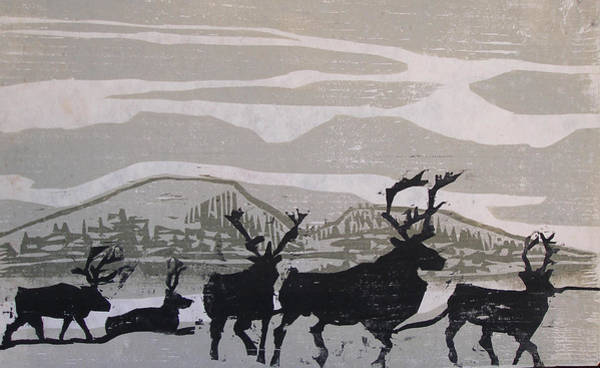 Painting - Caribou Yukon Territory  by Suzanne Cerny