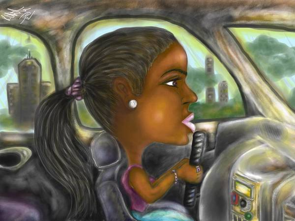 Digital Art - Caricature Ride With Jay by Robert Watson