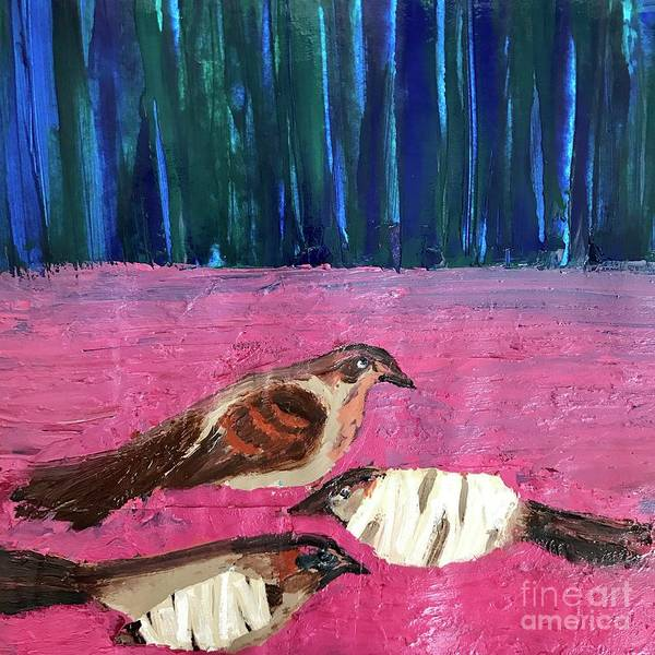 Painting - These Broken Wings by Kim Nelson