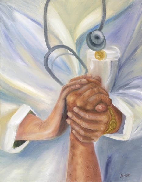 Patient Wall Art - Painting - Caring A Tradition Of Nursing by Marlyn Boyd