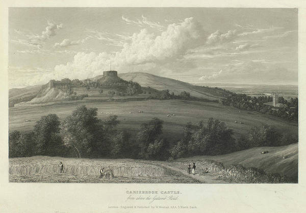 1781 Painting - Carisbrook Castle by William Westall