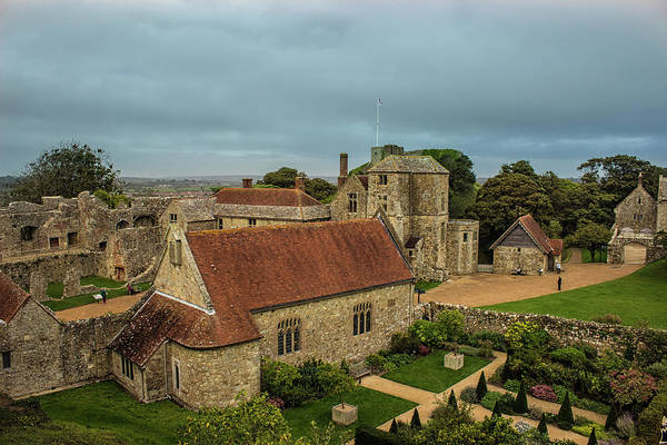 Village Gate Photograph - Carisbrooke Castle Isle Of Wight by Martin Newman