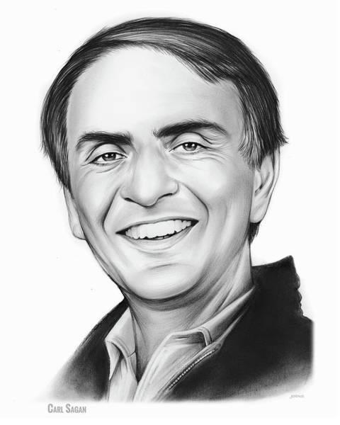 Birthday Drawing - Carl Sagan by Greg Joens