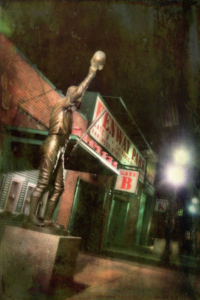 Photograph - Carl Yastrzemski Statue - Fenway Park Boston by Joann Vitali