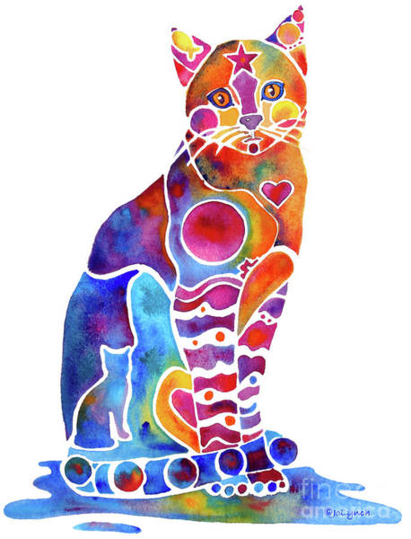 Nocturnal Wall Art - Painting - Carley Cat by Jo Lynch