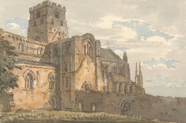 Painting - Carlisle Cathedral, Cumberland, From The South-west  by Thomas Girtin