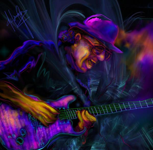 Painting - Carlos Santana by DC Langer