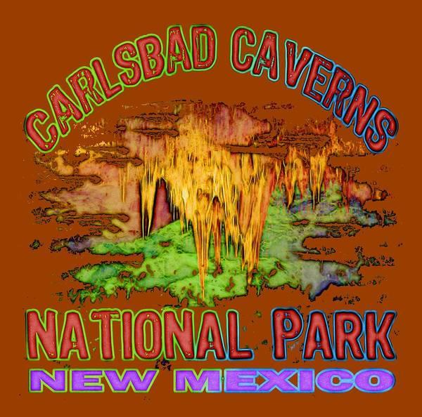 Wall Art - Digital Art - Carlsbad Caverns National Park by David G Paul
