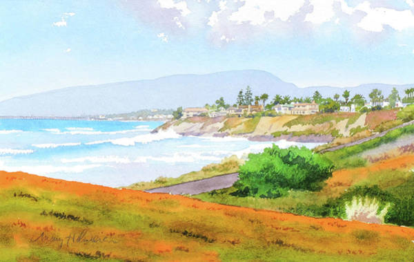 Camp Wall Art - Painting - Carlsbad Rt. 101 Sunny Day by Mary Helmreich