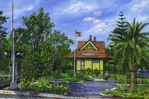 Wall Art - Painting - Carlsbad Station by Lisa Reinhardt