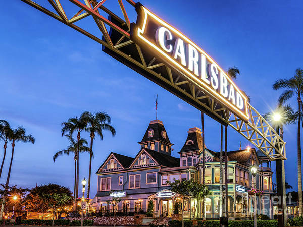Photograph - Carlsbad Welcome Sign by David Levin