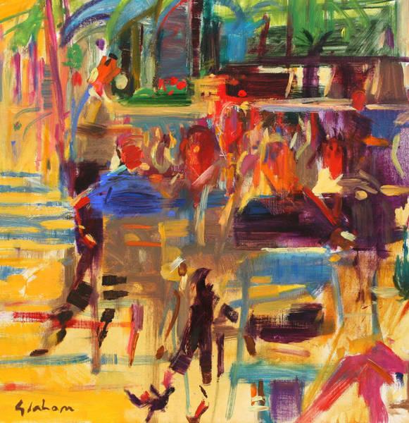 Dining Al Fresco Painting - Carlton Croisette  Cannes  by Peter Graham