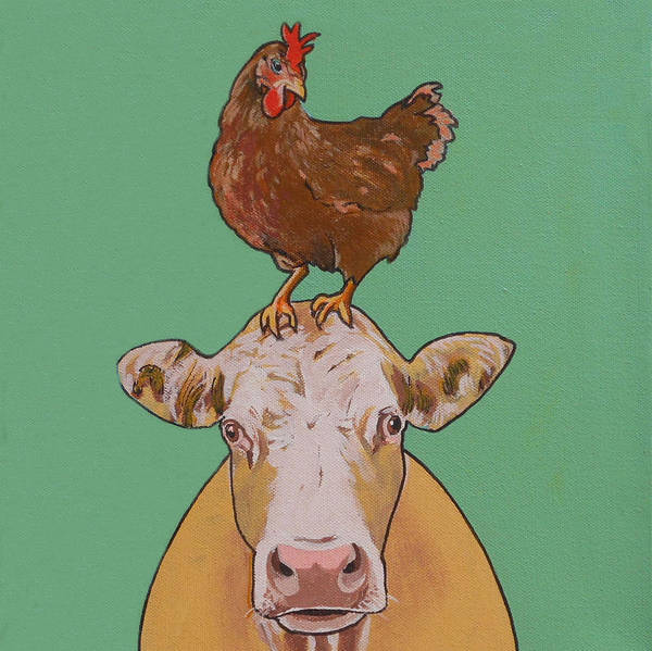 Carlyle The Cow Art Print