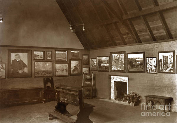 Photograph - Carmel Art Association, Oct. 1927 Gallery In Seven Arts Building by California Views Archives Mr Pat Hathaway Archives
