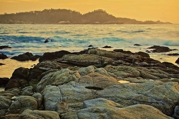 Photograph - Carmel Bay Gold, Carmel, California by Flying Z Photography by Zayne Diamond