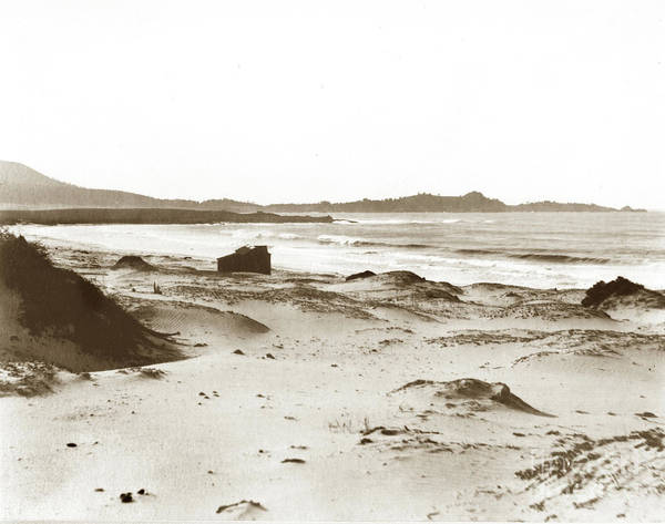 Photograph - Carmel Beach, Bath House, Carmel Point And Point Lobos 1905 by California Views Archives Mr Pat Hathaway Archives