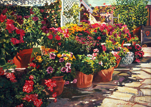 Flower Bed Wall Art - Painting - Carmel Bed And Breakfast by David Lloyd Glover