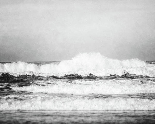 Carmel By The Sea Photograph - Carmel By The Sea In Black And White by Lisa Russo