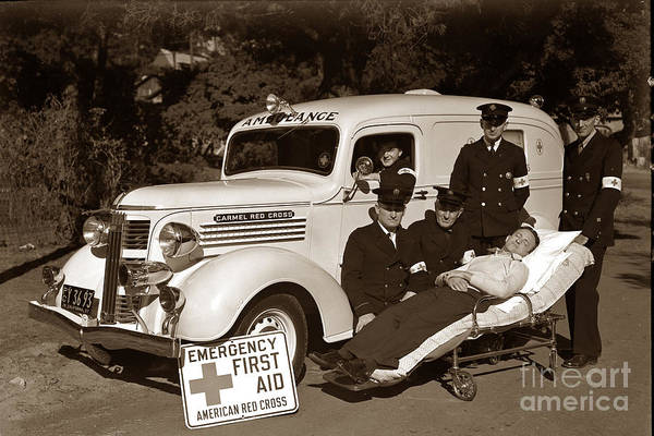 Photograph - Carmel California Red Cross 1937 by California Views Archives Mr Pat Hathaway Archives