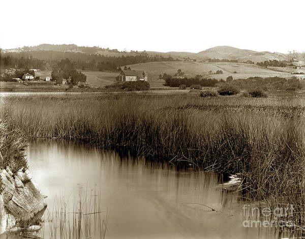 Photograph - Carmel Mission And Mission Ranch 1905 by California Views Archives Mr Pat Hathaway Archives