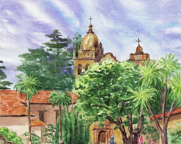 Painting - Carmel Mission Basilica by Irina Sztukowski