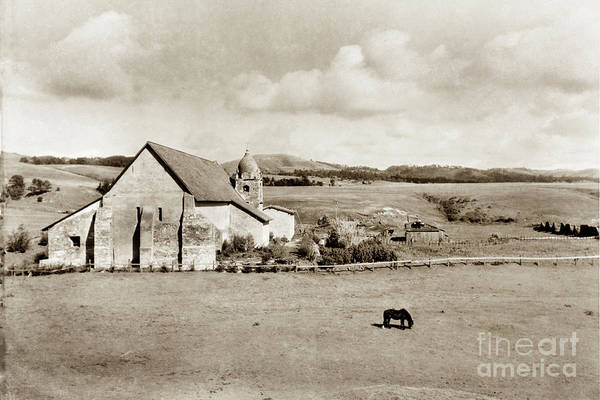 Photograph - Carmel Mission Circa 1920 by California Views Archives Mr Pat Hathaway Archives