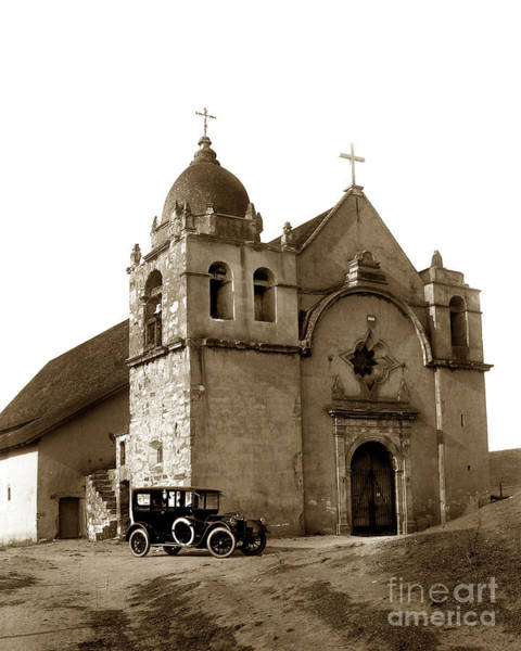 Photograph - Carmel Mission Photo By Lewis Josselyn Of Carmel Taken In 1919 by California Views Archives Mr Pat Hathaway Archives