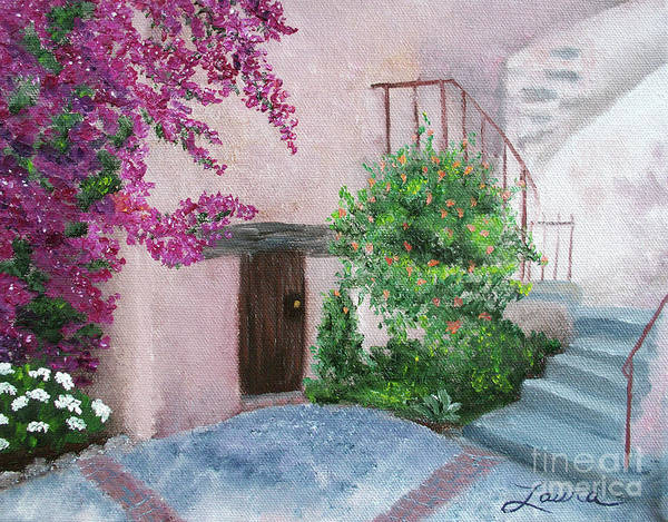 Spanish Missions Wall Art - Painting - Carmel Mission Side Door by Laura Iverson
