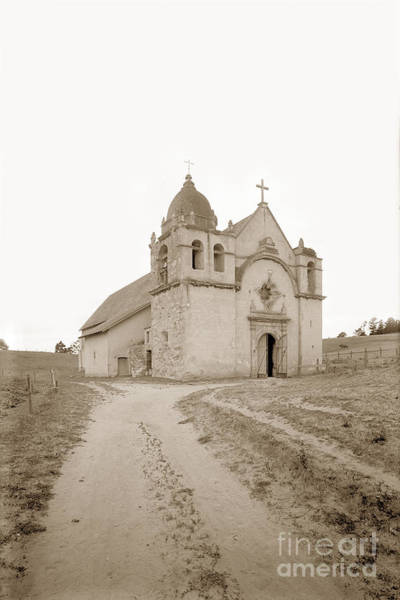 Carmel Mission South Side Circa 1915 Art Print