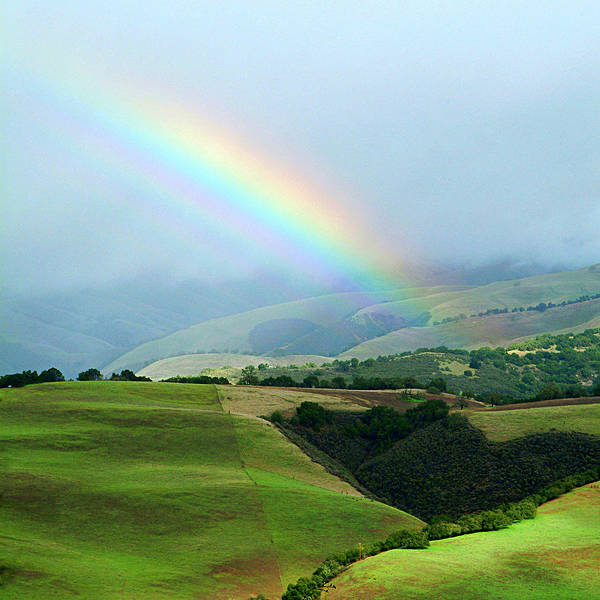 Wall Art - Photograph - Carmel Valley Rainbow by Charlene Mitchell