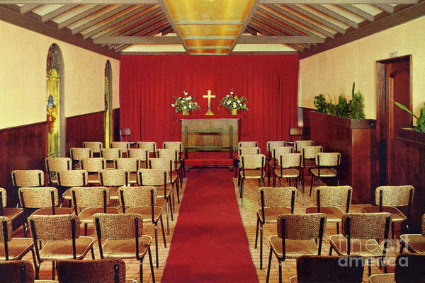 Photograph - Carmel Wedding Chapel At Carmel Highlands Inn Circa 1960 by California Views Archives Mr Pat Hathaway Archives