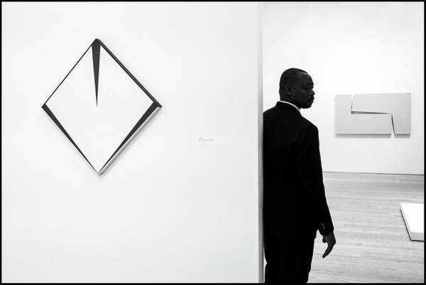 Photograph - Carmen Herrera At The Whitney 1 Bw by Frank Winters
