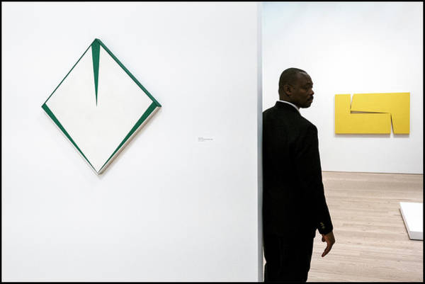 Photograph - Carmen Herrera At The Whitney 1 by Frank Winters